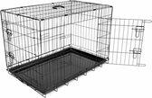 Duvo Hondenbench 2 deurs - 92x57x64 cm - Zwart