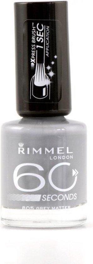 Rimmel London 60 seconds Finish Nagellak - 805 Grey Matter