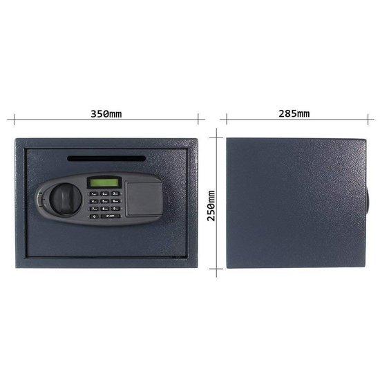 Rottner Lettera Afstortkluis met inwerpgleuf - elektronisch slot - 25x35x28,5cm