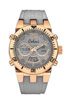 Colori 5-CLD121 - Horloge - Siliconen - Grijs - Ø 46 mm