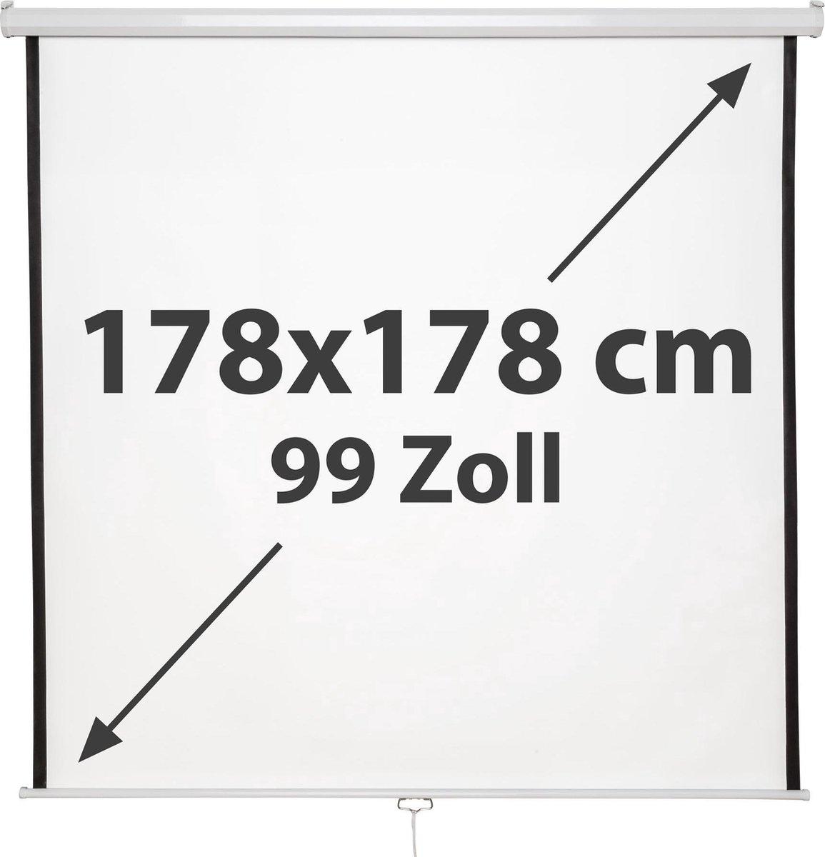 TecTake -  beamerscherm 99 inch - oprolbaar - 402082