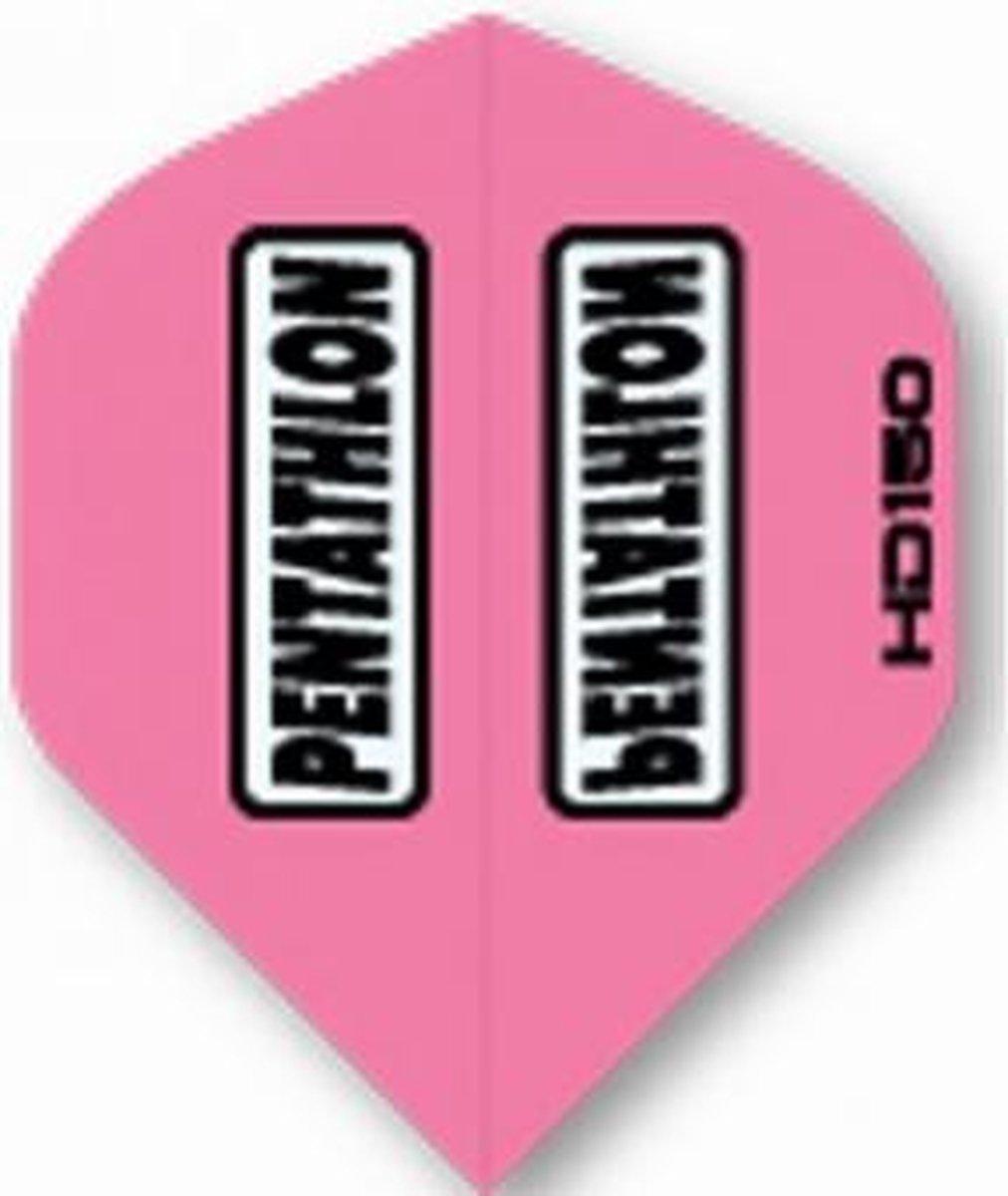 5 sets (15 stuks) Pentathlon flights HD 150 Pink Std