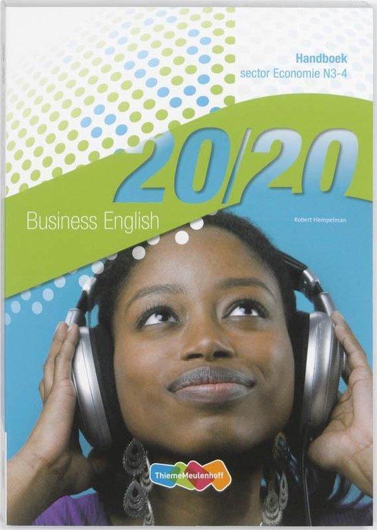 20/20 Business English Handboek N3-4 sector Economie - Robert Hempelman |