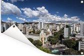 Het Zuid-Amerikaanse Belo Horizonte in Brazilië Tuinposter 90x60 cm - Tuindoek / Buitencanvas / Schilderijen voor buiten (tuin decoratie)