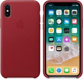 Apple Leather Backcover iPhone X / Xs - Red