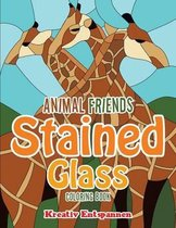 Animal Friends Stained Glass Coloring Book