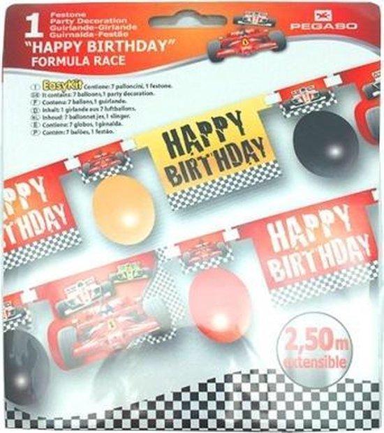 Amscan Decoratieset Met Ballonnen Formula Race 8-delig