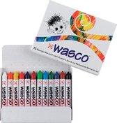 Wasco set 12 kleuren krijtjes waskrijt waspastels