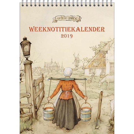 Anton Pieck Week notitiekalender 2019 - 'Melkmeisje'