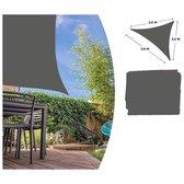 Luxe zonnescherm / schaduwdoek grijs driehoek - 360 x 360 cm - zonwerend zonnedoek
