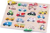 New Classic Toys - Vormenpuzzel - Voertuigen