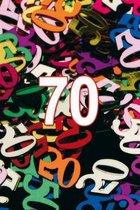 Confetti 70 jaar thema versiering zakjes van 15 gram - Leeftijd feestartikelen en versieringen.