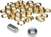 ESVO Ø 16 mm zeilringen - 25 ringen - messing - inclusief 1 stempel