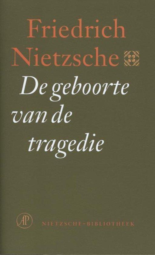 Boek cover De geboorte van de tragedie van Friedrich Nietzsche