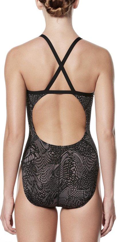 Nike Crossback Badpak Dames  Badpak - Maat XL Volwassenen - zwart/grijs - Nike