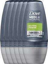Dove Men+Care Deodorant Roller Extra Fresh 6 x 50 ml - Voordeelverpakking