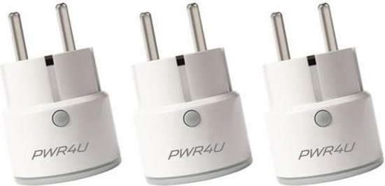 PWR4U®  Smart plug - Set van 3 - Slimme stekker - Google Home & Alexa geschikt - Nederlandse handleiding