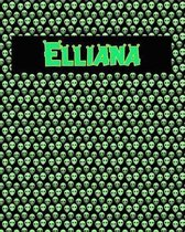 120 Page Handwriting Practice Book with Green Alien Cover Elliana