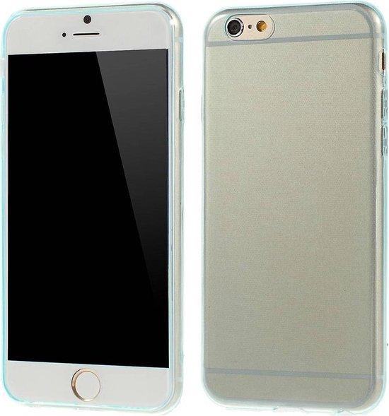 TPU Softcase 0.6mm iPhone 6(s) - Cyaan
