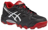 Asics Sportschoenen - Maat 37 - Unisex - zwart/rood/zilver