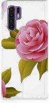 Huawei P30 Pro Uniek Standcase Hoesje Roses