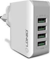 Oplader met 4 USB poorten 5V 4.4A - Travel Adapter