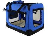 Topmast reisBench nylon Bench - honden Bench XXXXL Blauw 120x79x79cm - stoffen bench - vouwbench - Auto bench - Honden >50kilo