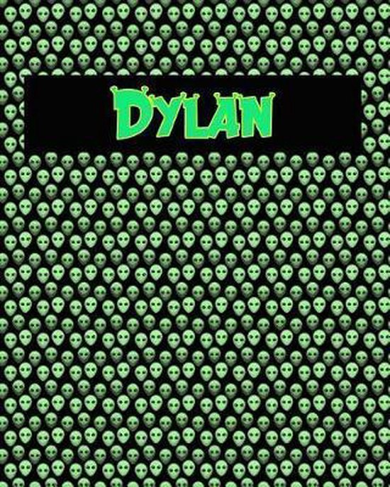 120 Page Handwriting Practice Book with Green Alien Cover Dylan