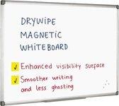 Quantore whiteboard magnetisch - 60x45 cm - Gelakt staal - Met afleggoot
