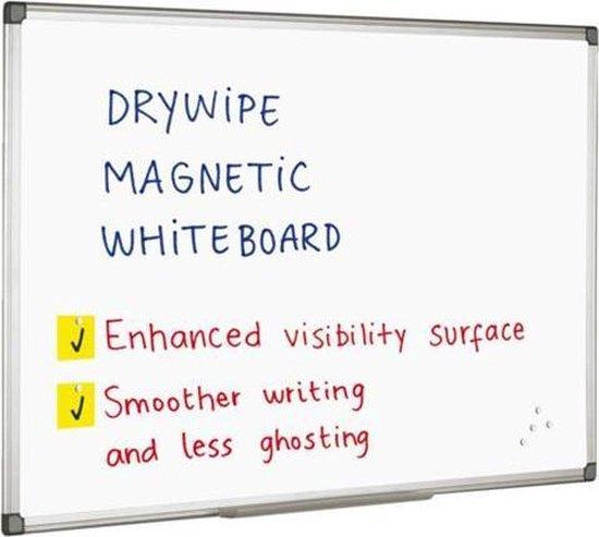 Afbeelding van Quantore whiteboard magnetisch - 60x45 cm - Gelakt staal - Met afleggoot
