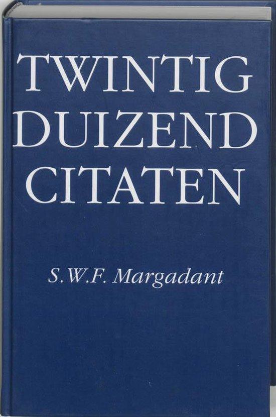 Twintigduizend citaten - Margadant  