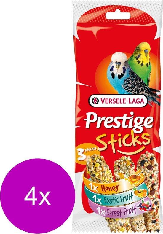 Versele-Laga Prestige Sticks Parkiet Triple Variety - Vogelsnack - 4 x 3x30 g