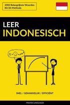Leer Indonesisch: Snel / Gemakkelijk / Efficiënt: 2000 Belangrijkste Woorden