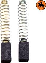 Koolborstelset voor Black & Decker Schuurmachine D206 - 6,3x6,3x11mm