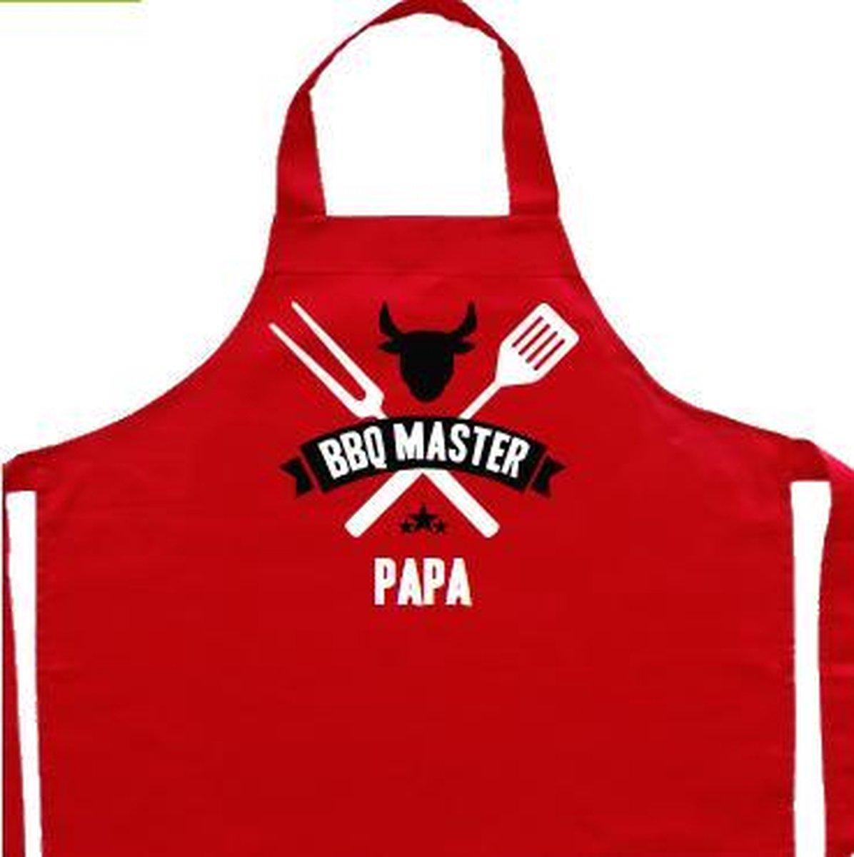 Vaderdag kookschort | rood, BBQ master papa