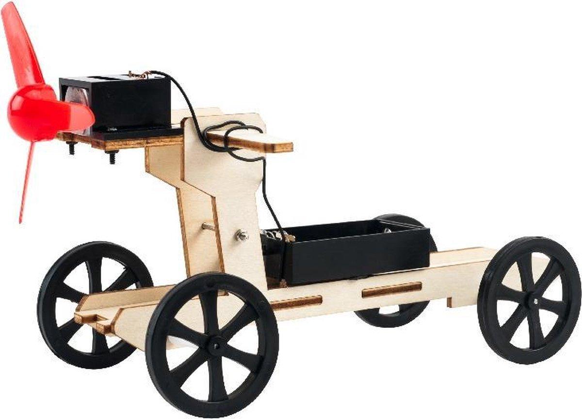 Bouwpakket Experimenteerset Auto op Windkracht- hout