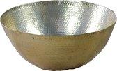 Schaal decoratief aluminium rond 43cm brass van PH design