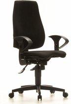 Bureaustoel - Verstelbare Armleuning - Stof - Zwart - Ergonomisch