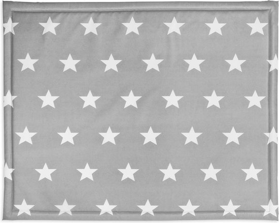 Jollein Little Star Boxkleed - 75x95 cm - Antraciet