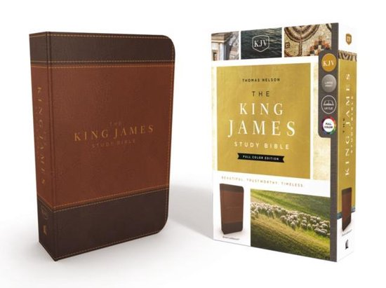 Boek cover KJV, The King James Study Bible, Leathersoft, Brown, Red Letter, Full-Color Edition van Thomas Nelson (Onbekend)