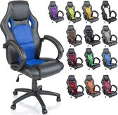 Gaming Chair Bureaustoel - Blauw - Kunstleer