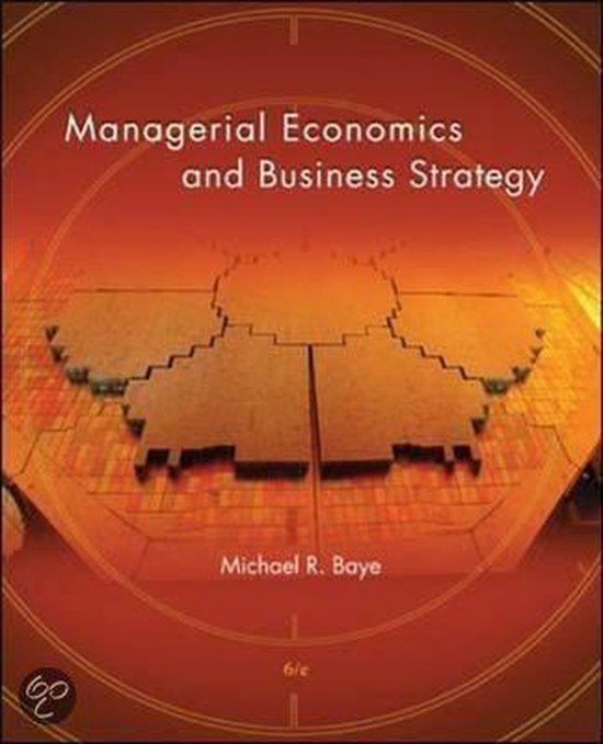 Boek cover Managerial Economics and Business Strategy van Michael Baye (Hardcover)