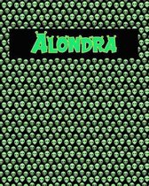 120 Page Handwriting Practice Book with Green Alien Cover Alondra