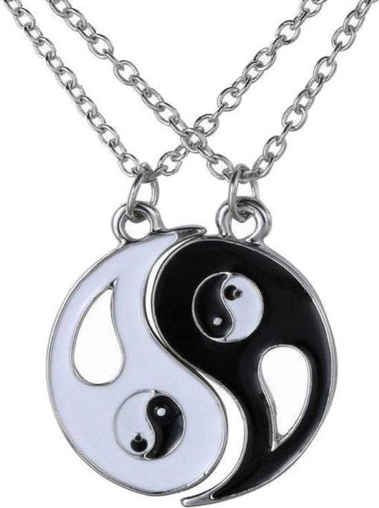 Fako Bijoux® - Vriendschapsketting - BFF Ketting - Yin Yang - Open