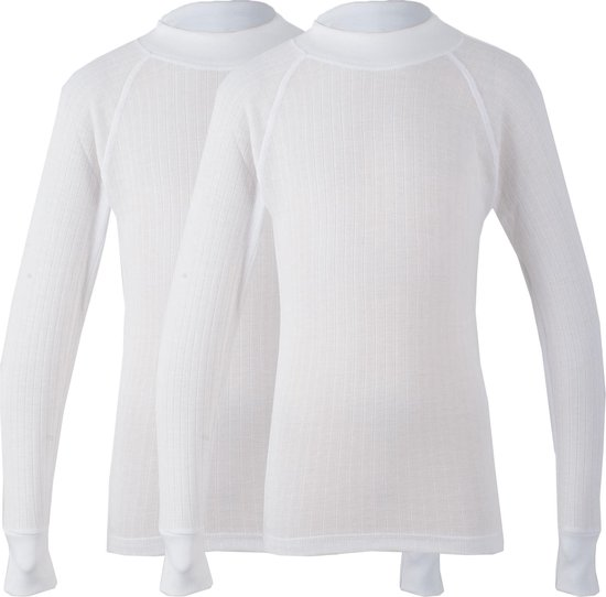 Avento Basic Thermo Longsleeve (2-pack) - Sportshirt - Kinderen - 140 - Wit