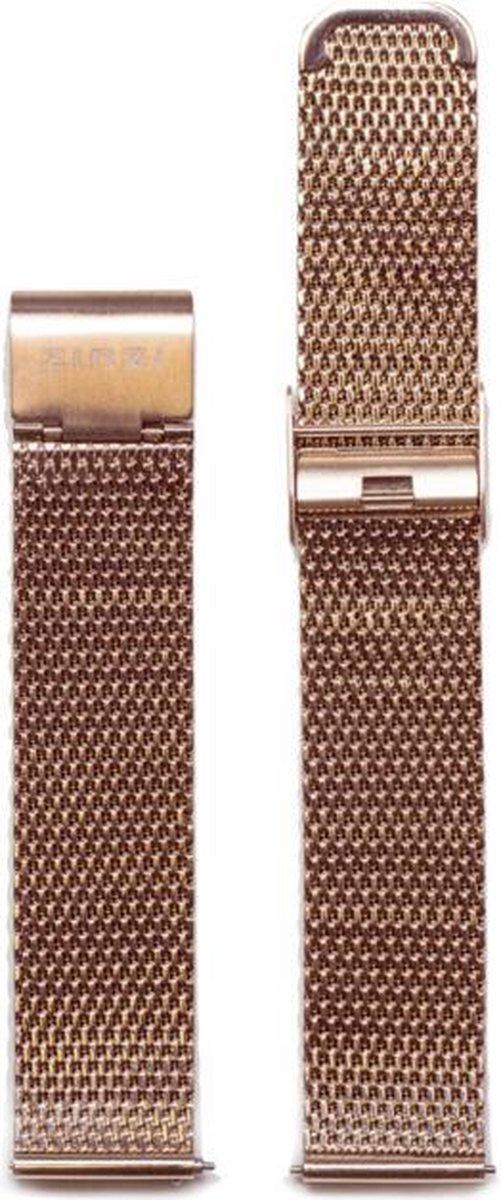 Zinzi RETBAND2 stalen mesh horlogeband roségoudkleurig 18mm - Zinzi