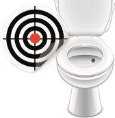 Plassticker In de Roos - 4 stickers - Toiletsticker