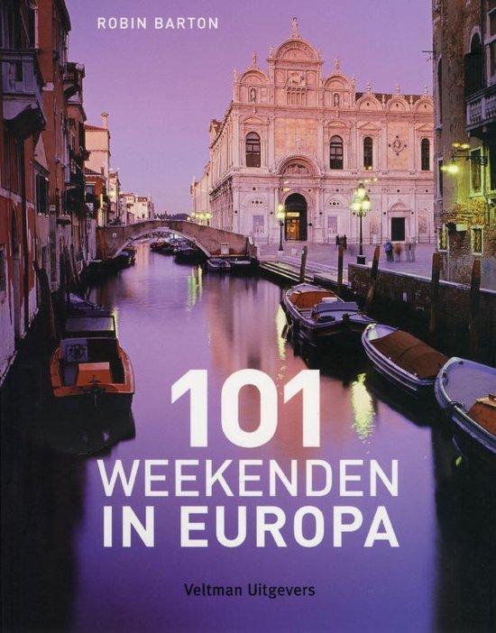Cover van het boek '101 weekenden in Europa' van R. Barton