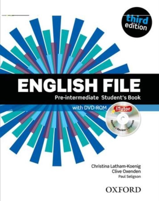 Boek cover English File - Pre-Int (third edition) students book van Clive Oxenden (Paperback)