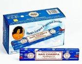 Wierookstokjes Satya Nag Champa (12 pakjes van 15 gram)